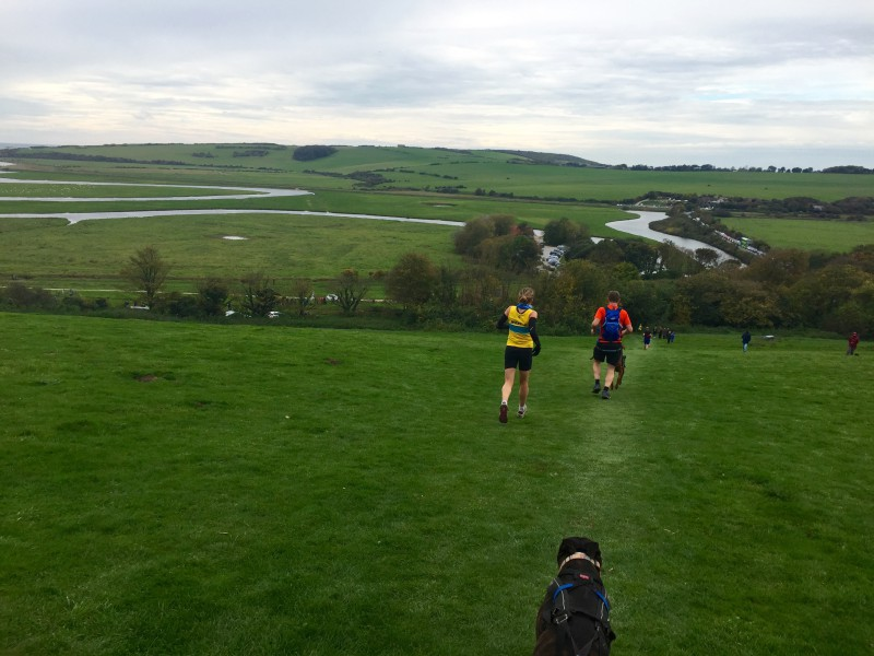 The paths at the Beachy Head Marathon were good for canicrossers