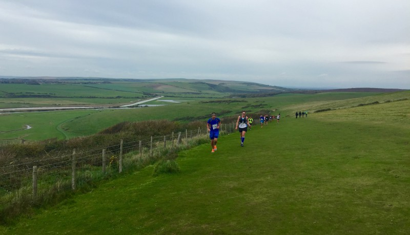 Scenery at Beachy Head Marathon