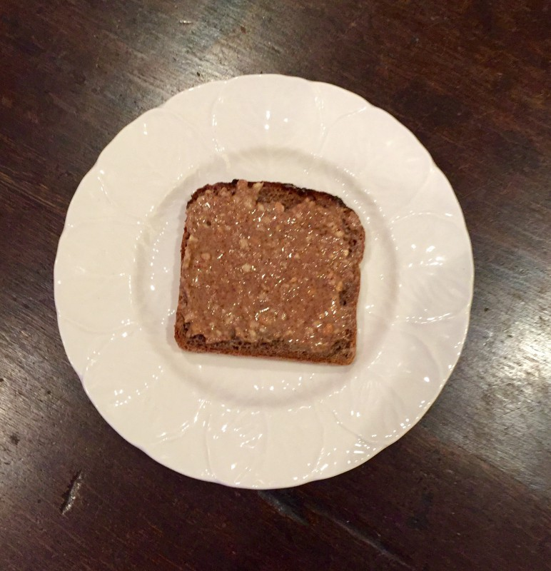 Nut Butter on toast as a nutritional meal